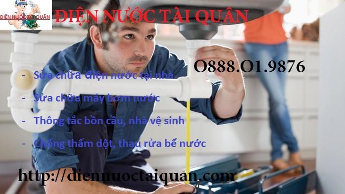 Thợ sửa ống nước tại Trương Định chuyên nghiệp tận tâm và trung thực